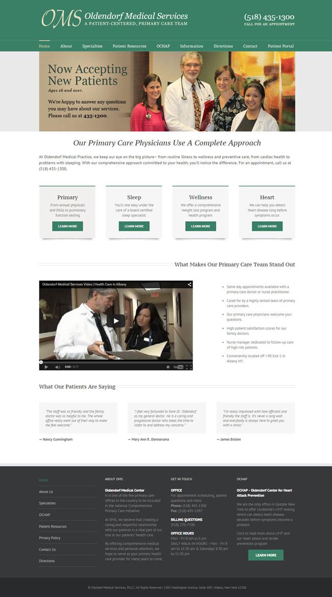 Oldendorf Medical Services Website