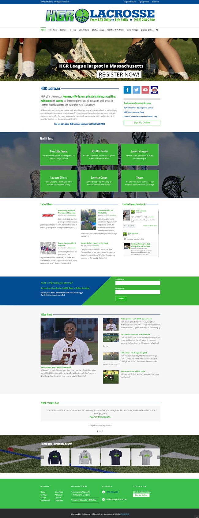 HGR Lacrosse Website