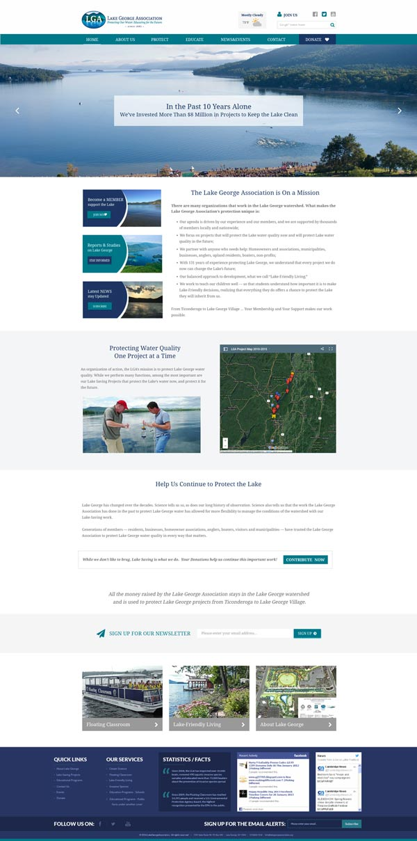 Lake George Association Website Redesign