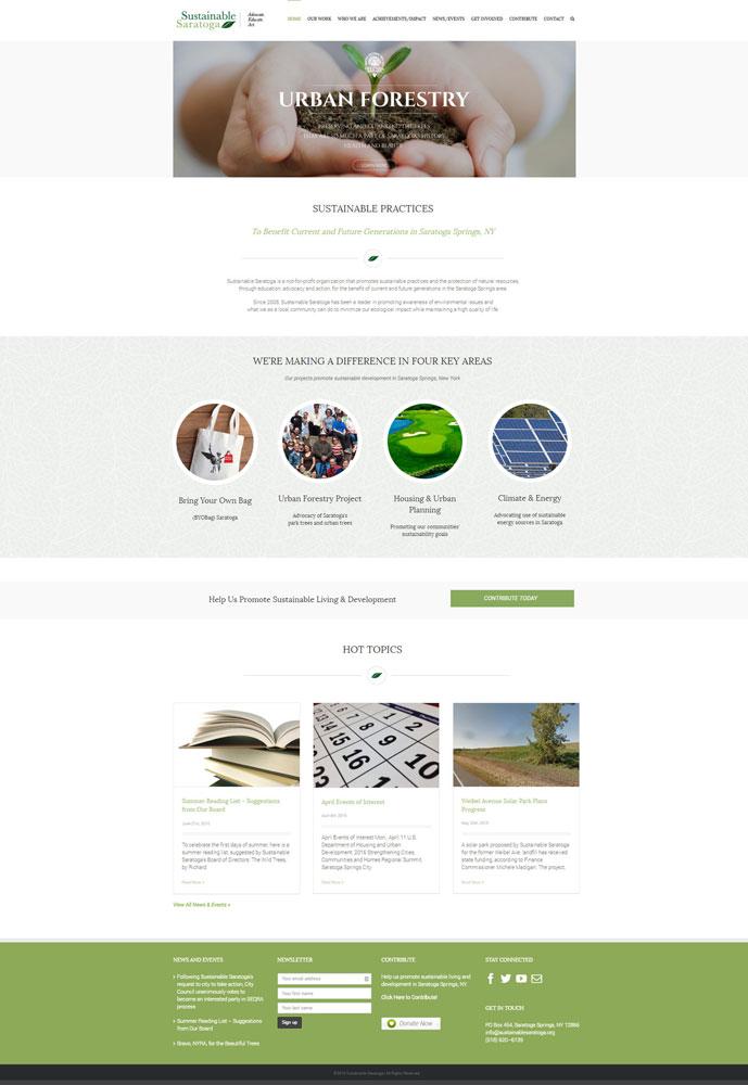 Sustainable Saratoga Website