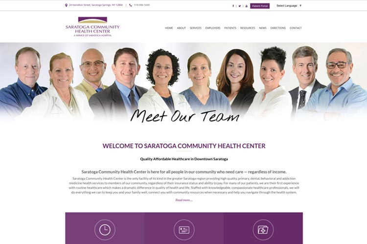 Saratoga Community Health Center Website
