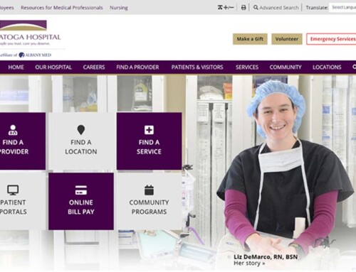 Saratoga Hospital Website